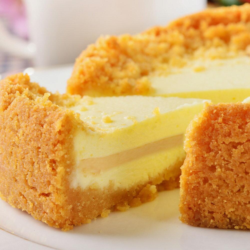 新品上市【艾波索.芝心半熟乳酪蛋糕6吋】起司乳酪控最愛!經典乳酪搭配芝心起士口味鹹甜交錯,經典絕佳的味覺組合 0