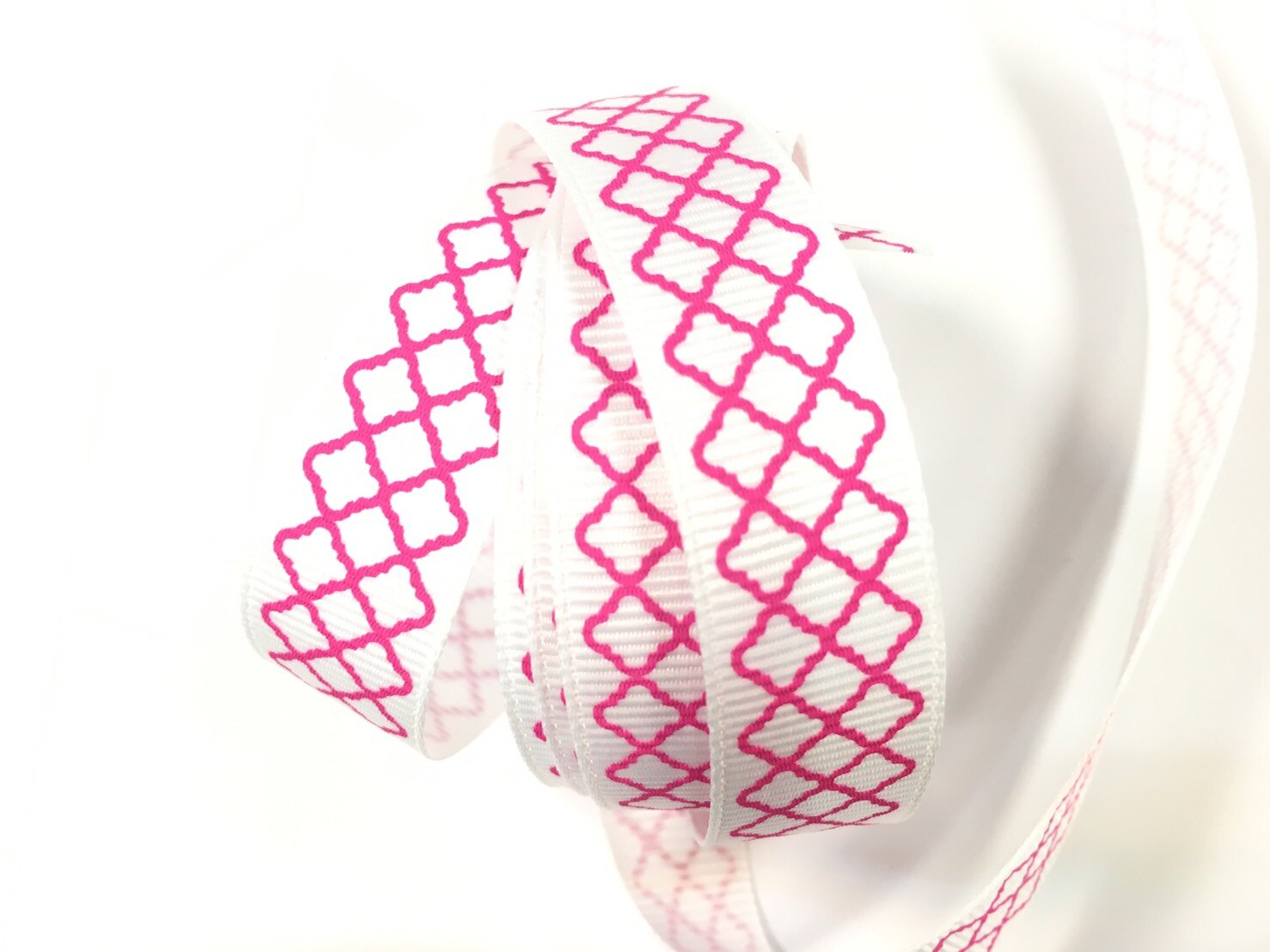 羅紋緞帶-網格 15mm 3碼裝 (5色) 5
