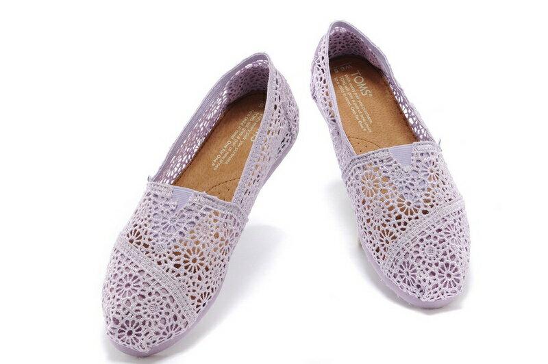 【TOMS】淡紫色蕾絲鏤空繡花平底休閒鞋  Lilac Snow Crochet Women's Classics 5