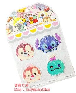 【真愛日本】16053100009水晶浮雕貼-畫筆奇蒂&ST    迪士尼 花栗鼠 奇奇蒂蒂 松鼠  正品  貼紙