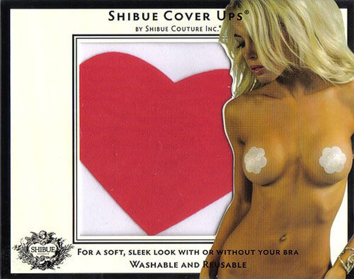 愛的蔓延-美國SHIBUE Tabue Cover Ups/心型胸貼(紅色)BDM-13014