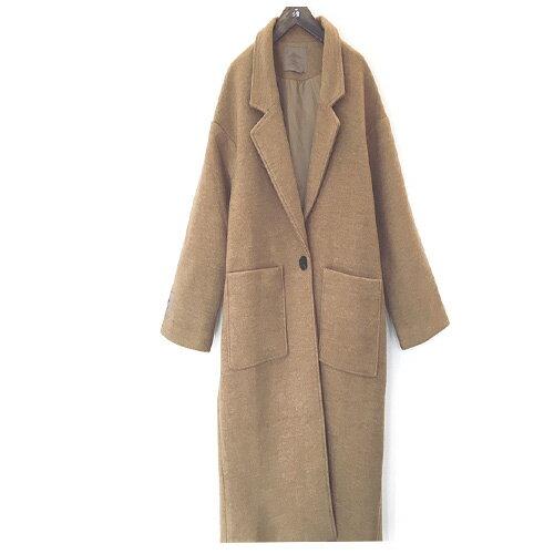 外套 - 純色翻領長版毛呢大衣外套【29197】藍色巴黎 《2色》現貨 + 預購 2