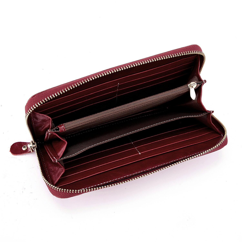 【BEIBAOBAO】法式 編織真皮時尚皮夾(甜莓紅) 4