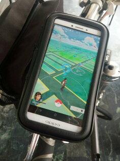 【騰宇通訊】全新※CITY BOSS 自行車 機車 防水手機架 360度旋轉頭 方便調整手機 PokemonGO 手機車架 腳踏車架