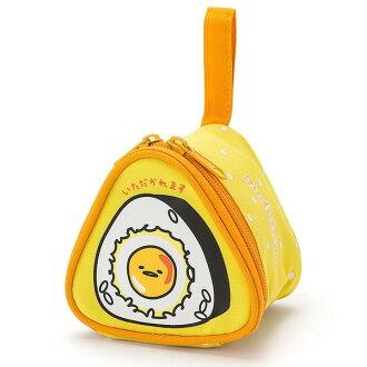 【真愛日本】16090100048造型三角飯糰提袋-GU黃三麗鷗家族 蛋黃哥 Gudetama提袋 手提包