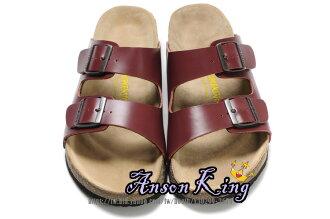 [Anson King]Outlet正品代購  birkenstock Arizona系列 男女款 懶人涼拖鞋 棗紅