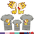 ◆快速出貨◆T恤.親子裝.情侶裝.班服.MIT台灣製.獨家配對情侶裝.客製化.純棉短T.歪頭長頸鹿【YC427】可單買.艾咪E舖 0