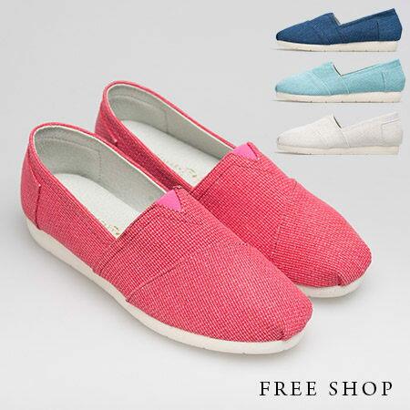 Free Shop【QSH0350】日韓風格純色素面撞色拼布抓摺舒適休閒鞋懶人鞋‧四色(FS01) MIT台灣製