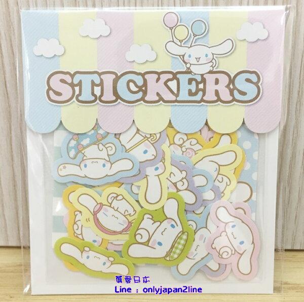 【真愛日本】16062900018日本製專賣店造型貼紙組-CN   三麗鷗家 喜拿狗 大耳狗   文具用品  裝飾貼紙