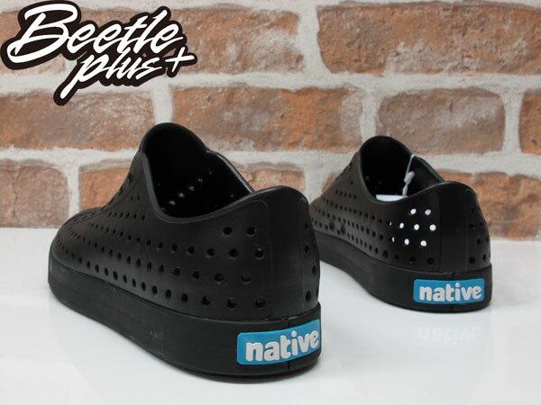 BEETLE 2015 NATIVE JEFFERSON BLACK 洞洞鞋 全黑 藍標 超輕量 防水 懶人鞋 陳冠希 2