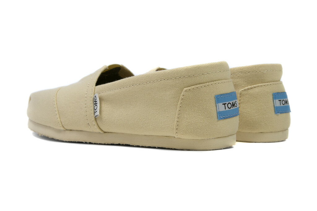 【TOMS】米色素面基本款休閒鞋  Natural Canvas Women's Classics 3
