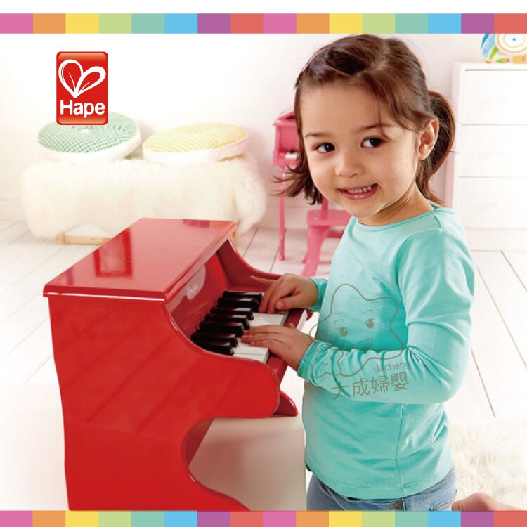 【大成婦嬰】德國 Hape 愛傑卡 音樂小鋼琴-紅 E0318 2