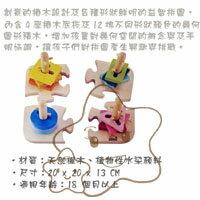 【大成婦嬰】德國 Hape 愛傑卡 創意樁木幾何拼圖 E0411 1