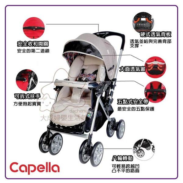 【大成婦嬰】 Capella 銀離子雙向手推車 BS-705 BE