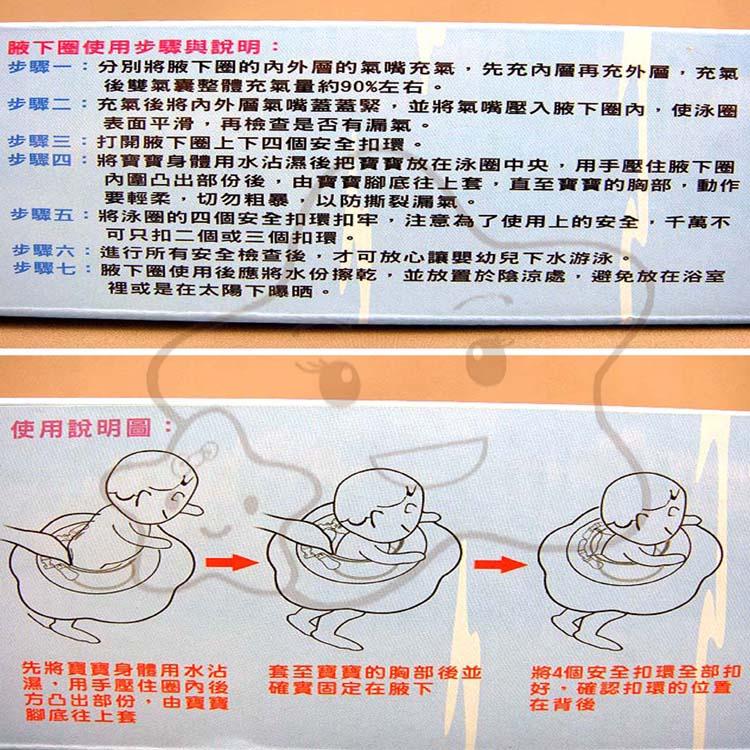 【大成婦嬰】曼波魚屋 幼兒游泳腋下圈(新型)- 附打氣筒.水溫卡 - 兩層安全設計 - 台灣製 2