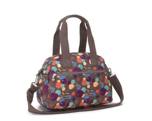 OUTLET代購【KIPLING】手提側背包 旅行袋 斜揹包 潑墨棕 1