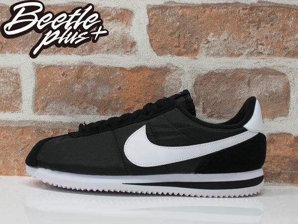 男生 BEETLE NIKE CORTEZ BASIC NYLON 黑白 白黑 尼龍 阿甘鞋 819720-011