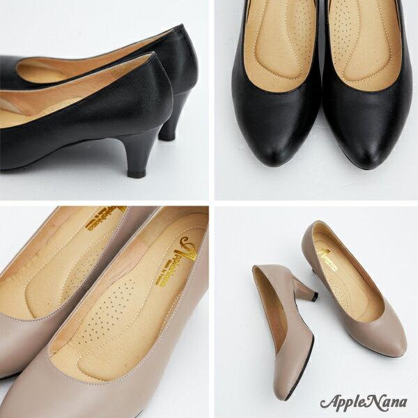 AppleNana。人人必備完美鞋楦絕對好穿羊皮尖頭高跟鞋【QC1301380】蘋果奈奈 5