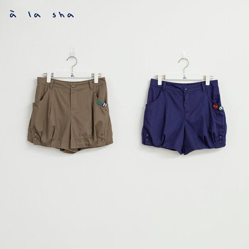 a la sha 阿財與熊剪接車摺短褲 2