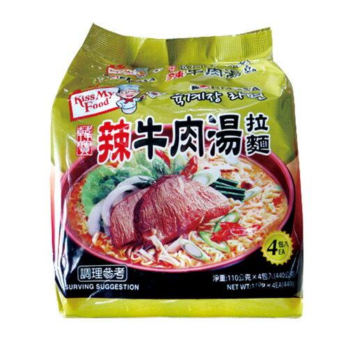 韓寶辣牛肉湯拉麵/韓國泡麵(四包一袋) 0