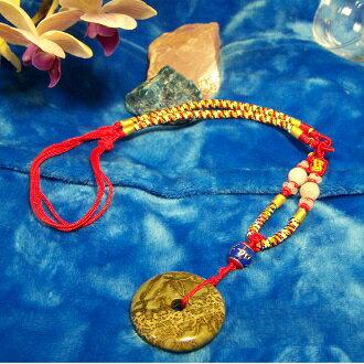 非洲果綠 中國結吉祥如意結飾 平安扣項鍊 3