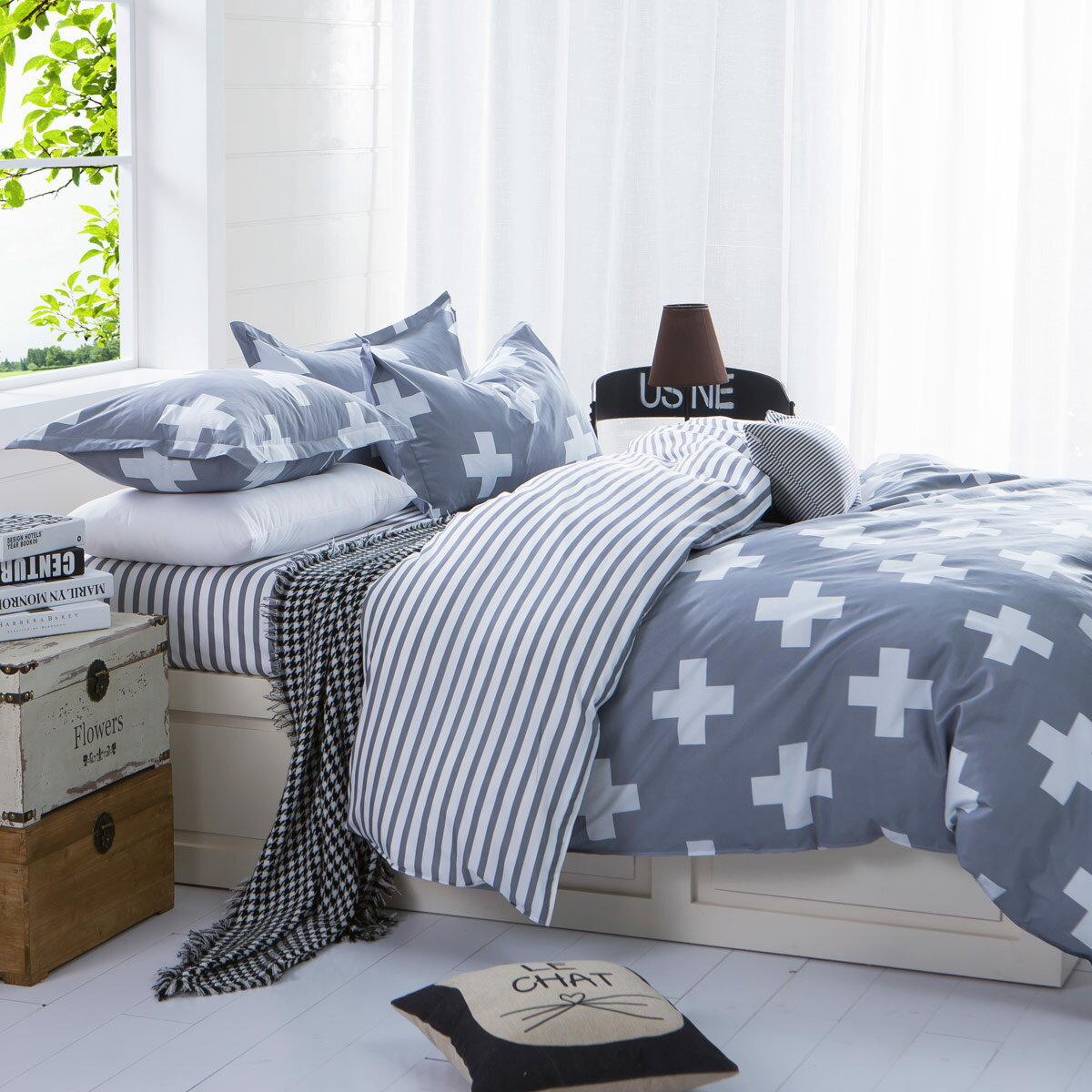 【維納斯】-雙人美肌磨毛四件式床包被套組