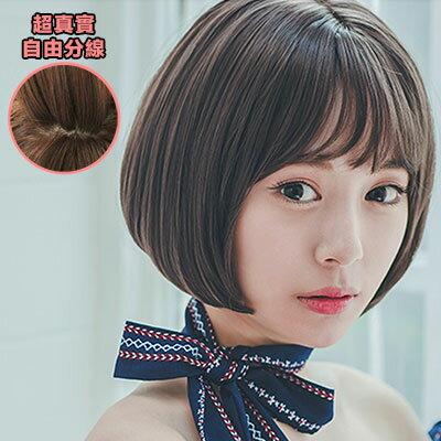 韓系 稀疏薄瀏海 耐熱高仿真BOBO短髮(加大頭皮)【MB209】☆雙兒網☆ 0