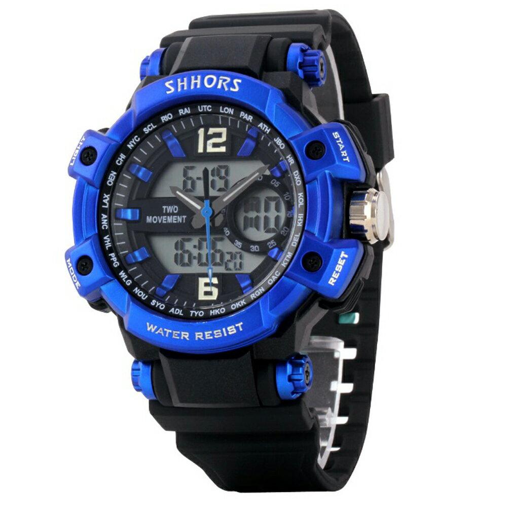 SHHORS SH-852 熱血運動亮色防水多功能電子錶 3