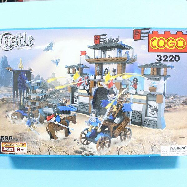 COGO 積高積木 3220 城堡積木 可與樂高混拼(大)約698片入/一盒入{促1200}~CF122762~