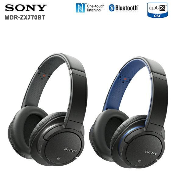 SONY MDR-ZX770BT (附收納袋+TDK耳機) 無線藍牙耳罩式耳機,公司貨,一年保固