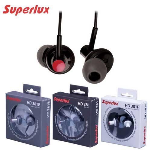 Superlux HD381或HD381F或HD381B 專業級耳道式耳機3組不同特色耳機擇一,原廠保固一年,全新品