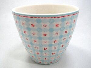 【預購】GreenGate  拿鐵杯    天藍底配小紅花 - 限時優惠好康折扣