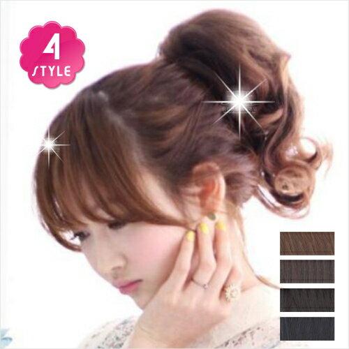 短髮假髮微卷尾巴沙夾-4色(任選) [47668]◇美容美髮美甲新秘專業材料◇
