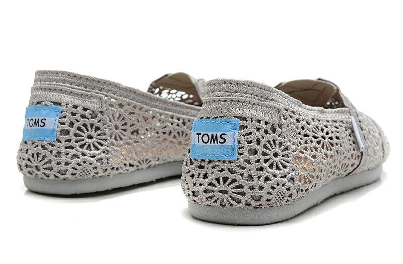 [女款] 國外代購TOMS 帆布鞋/懶人鞋/休閒鞋/至尊鞋 蕾絲系列  灰色 2