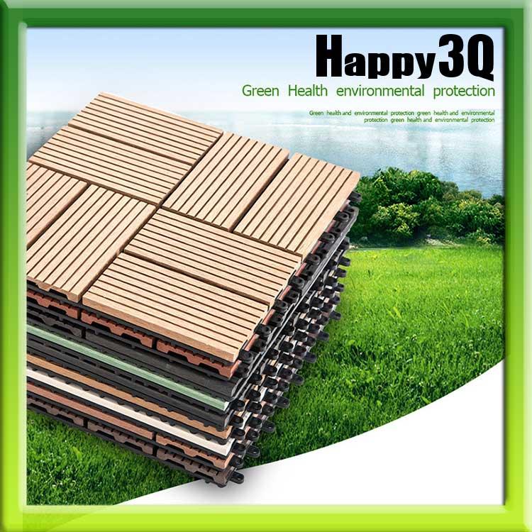 舒適家居DIY塑木木塑地板花園陽台浴室房間高 防水防潮防白蟻戶外塑膠地板~多款~AAA07