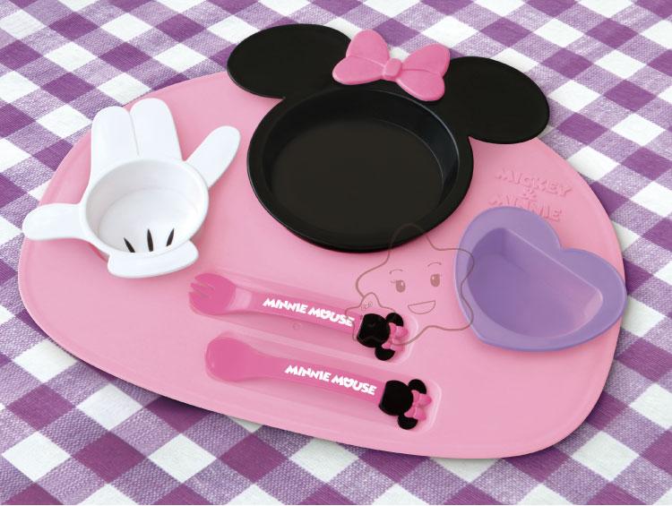 【大成婦嬰】日本超人氣 Disney 米奇、米妮多功能餐盤組 (基本款)1組 1