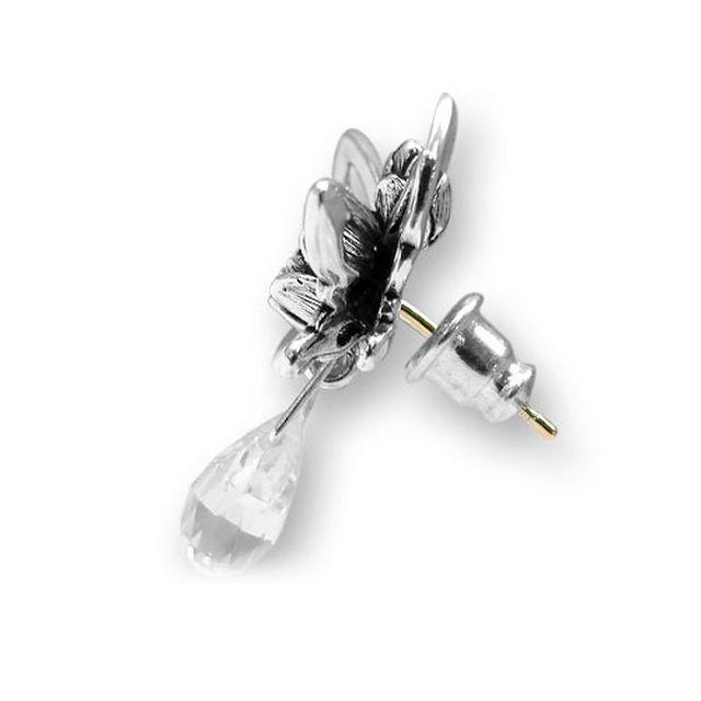 【海外訂購】【KONRON】蝴蝶夫人寶石純銀耳環(KRE0579-Cz  02765600Q8) 2