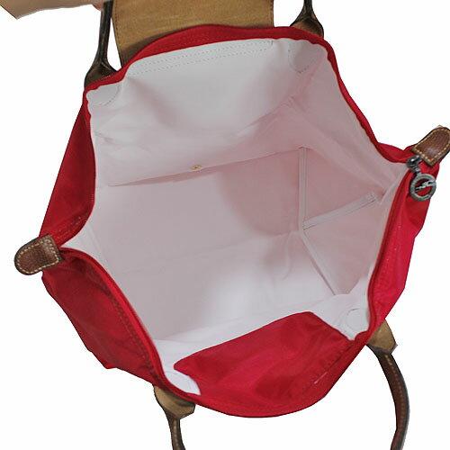 [1623-M號] 國外Outlet代購正品 法國巴黎 Longchamp 長柄 購物袋防水尼龍手提肩背水餃包亮紅色 2