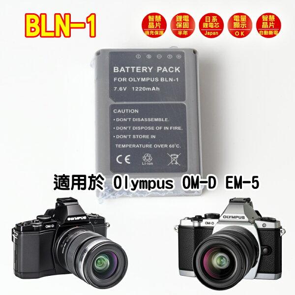 [享樂攝影] 日本電芯鋰電池 副廠 BLN-1 for Olympus OM-D E-M1 E-M5 相容原廠 BLN1 EM1 OMD EM5 EP5 PEN E-P5