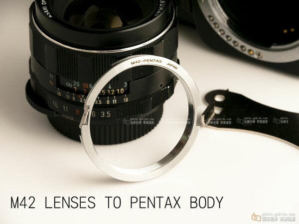 [享樂攝影]M42鏡頭轉接Pentax PK JAPAN轉接環, M42 - Pentax Japan Pentax, K200D K20D K7 K5 KX無限遠可合焦