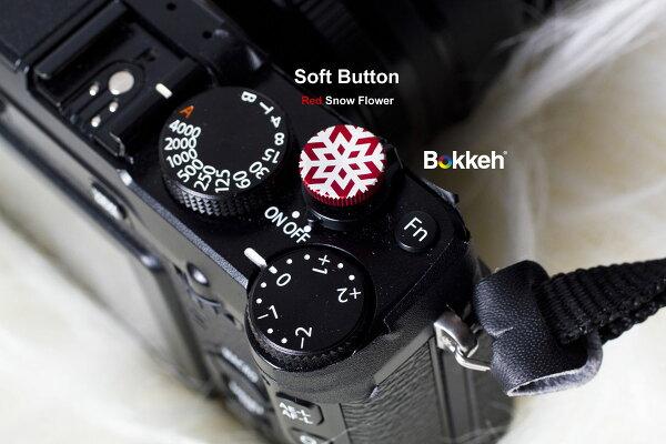 [享樂攝影] New Style!冬季限量款 紅色 雪花快門按鈕 風格快門鈕 金屬材質 12mm Fuji X-E1 X-pro X100 lomo 底片機