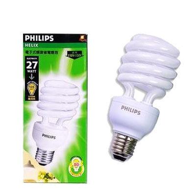 PHILIPS 飛利浦 27W 110V 螺旋省電燈泡 E27