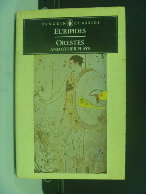 ~書寶 書T6/原文小說_NLI~Orestes and Other Plays_Euri