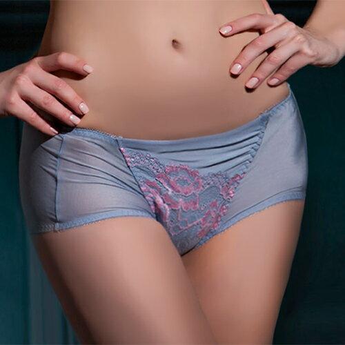 【Favori】美塑3D系列平口角褲 (銀灰色) 0