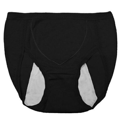 【AJM】MIT素色防漏高腰三角生理褲(黑) 0