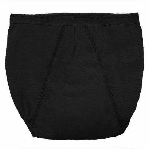 【AJM】MIT素色防漏高腰三角生理褲(黑) 1