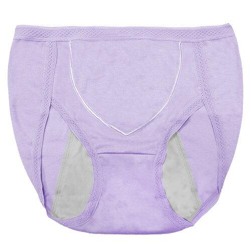 【AJM】MIT素色防漏高腰三角生理褲(紫) 0