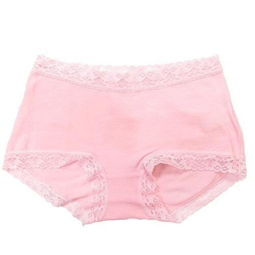 【AJM】素色棉質舒適低腰平口褲(粉) 0