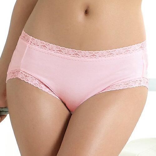 【AJM】素色棉質舒適低腰平口褲(粉) 1