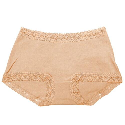 【AJM】素色棉質舒適低腰平口褲(膚) 1